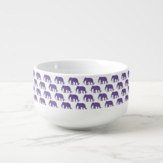 Purple elephants soup mug