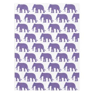 Purple elephants tablecloth
