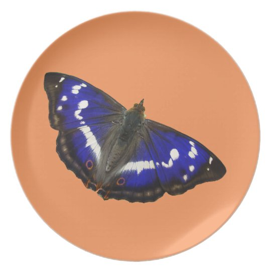 Purple Emperor Butterfly Plate