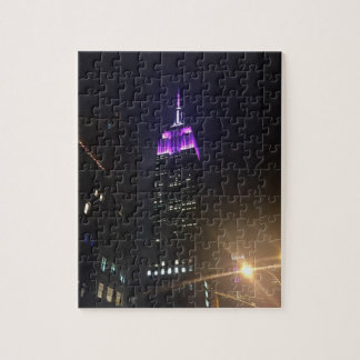 Purple Empire State Building NYC New York City Jigsaw Puzzle