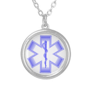 Purple EMT Silver Plated Necklace