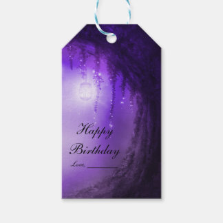 Purple Enchanted Forest Fantasy Wedding Favor Pack Of Gift Tags