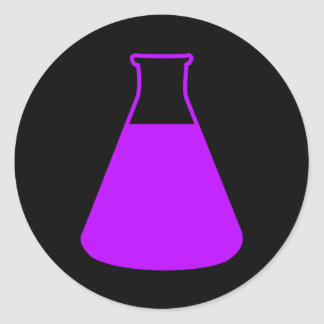 Purple Erlenmeyer Flask Sticker