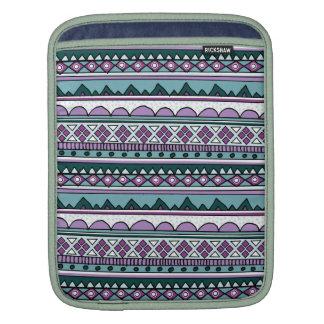 Purple ethnic pattern iPad sleeves