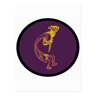 PURPLE EVENING KOKOPELLI POSTCARD