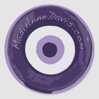 Purple Evil Eye Sticker