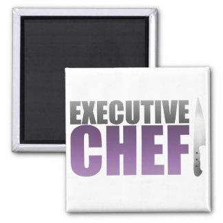 Purple Executive Chef Magnet