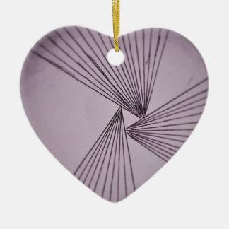Purple Explicit Focused Love Ceramic Ornament