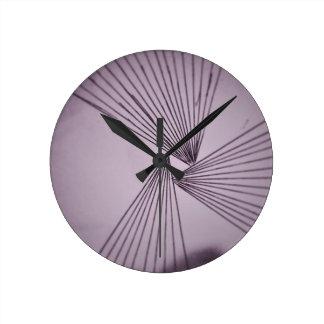 Purple Explicit Focused Love Round Clock