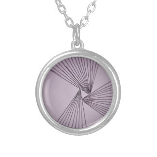 Purple Explicit Focused Love Silver Plated Necklace