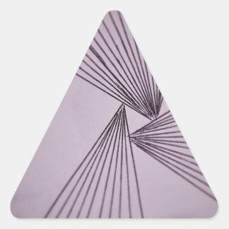 Purple Explicit Focused Love Triangle Sticker