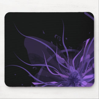 Purple Explosion Mouse Pads