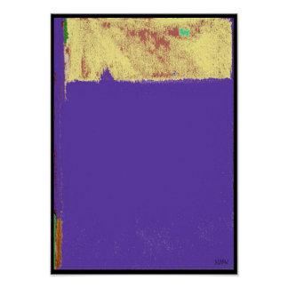Purple Expression Abstract Poster