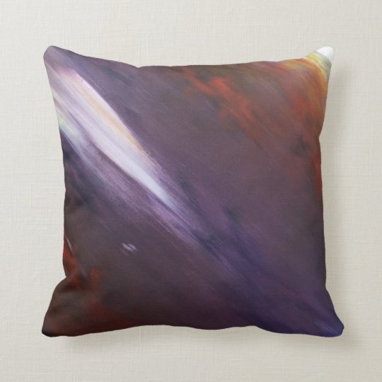 Purple Expressionist Cushion
