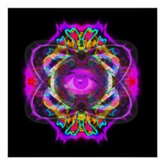 Purple eye of Saturn Poster