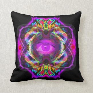 Purple eye of Saturn Throw Pillow