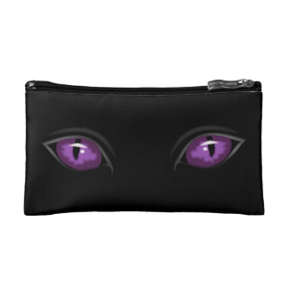 purple eyes staring Thunder_Cove Makeup Bag