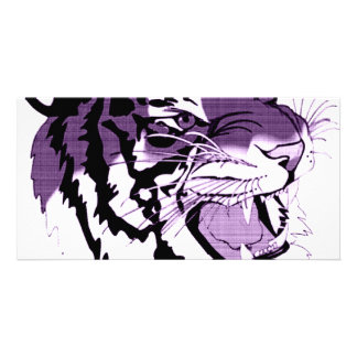 Purple Faced Tiger Photo Greeting Card