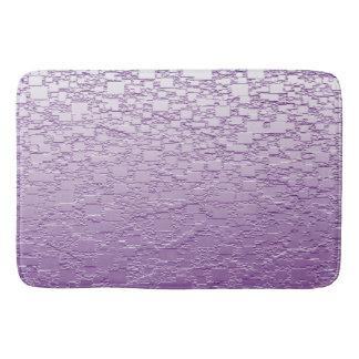 Purple Fade Mini Tile Design Bathroom Mat