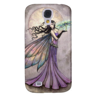 Purple Fairy and Dragonfly Fantasy Art