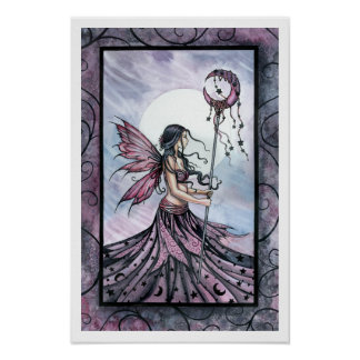 Purple Fairy Art Poster Print by Molly Harrison