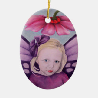 Purple Fairy Ceramic Ornament