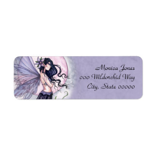 Purple Fairy Fantasy Art Return Address Labels