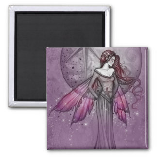 Purple Fairy Magnet by Molly Harrison