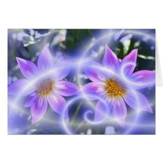 Purple Fairy Trails Dahlia On Canvas And Multiple Card
