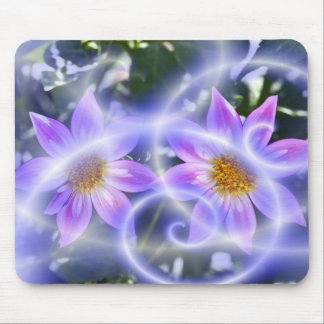 Purple Fairy Trails Dahlia On Canvas And Multiple Mouse Pad