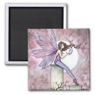 Purple Fairy with Moon Magnet