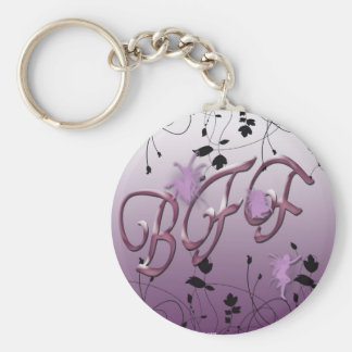 Purple Fairys Basic Round Button Keychain
