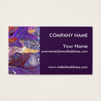 Purple Fall Autumn Leaves Business Card
