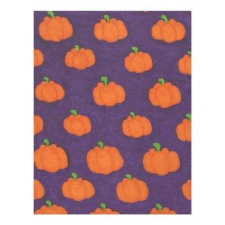 Purple Fall Pumpkin Pattern Letterhead