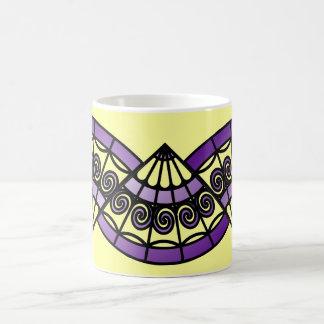Purple Fans Basic White Mug