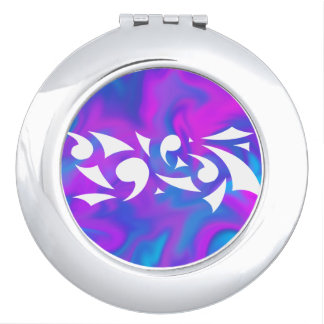 Purple Fantasy (Circle Compact) Makeup Mirror