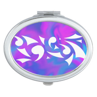 Purple Fantasy (Oval Compact) Travel Mirror