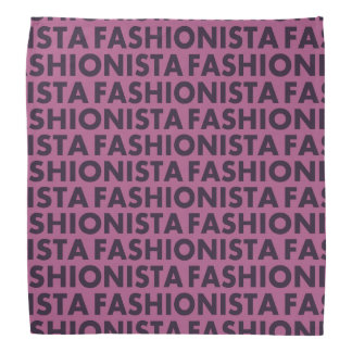 Purple Fashionista Bold Text Cutout Bandana