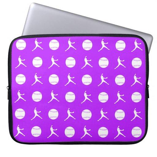 Purple Fastpitch Laptop Sleeve