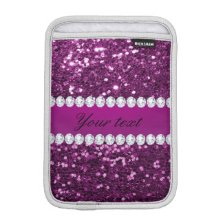 Purple Faux Glitter and Diamonds Sleeve For iPad Mini