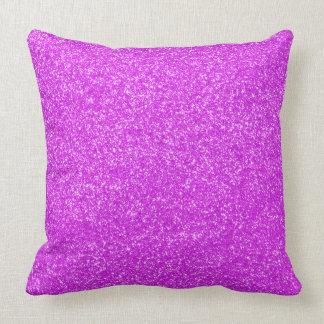 Purple Faux Glitter Girly Pillow
