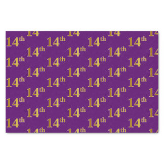 Purple, Faux Gold 14th (Fourteenth) Event Tissue Paper