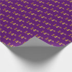 Purple, Faux Gold 14th (Fourteenth) Event Wrapping Paper