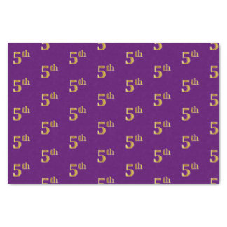 Purple, Faux Gold 5th (Fifth) Event Tissue Paper