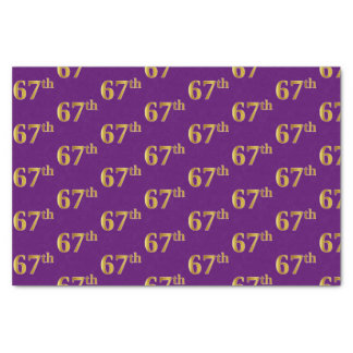 Purple, Faux Gold 67th (Sixty-Seventh) Event Tissue Paper