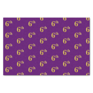 Purple, Faux Gold 6th (Sixth) Event Tissue Paper