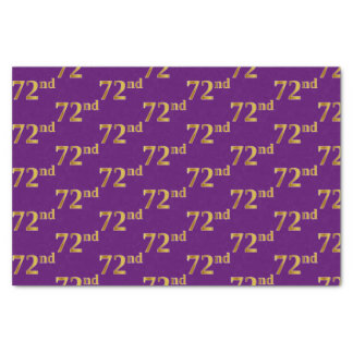 Purple, Faux Gold 72nd (Seventy-Second) Event Tissue Paper
