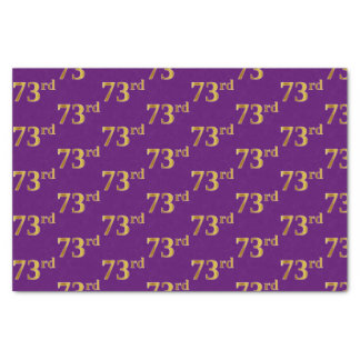 Purple, Faux Gold 73rd (Seventy-Third) Event Tissue Paper
