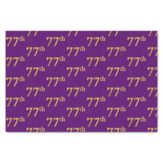 Purple, Faux Gold 77th (Seventy-Seventh) Event Tissue Paper