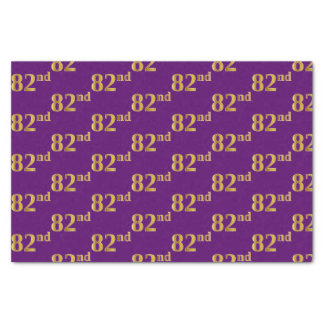 Purple, Faux Gold 82nd (Eighty-Second) Event Tissue Paper